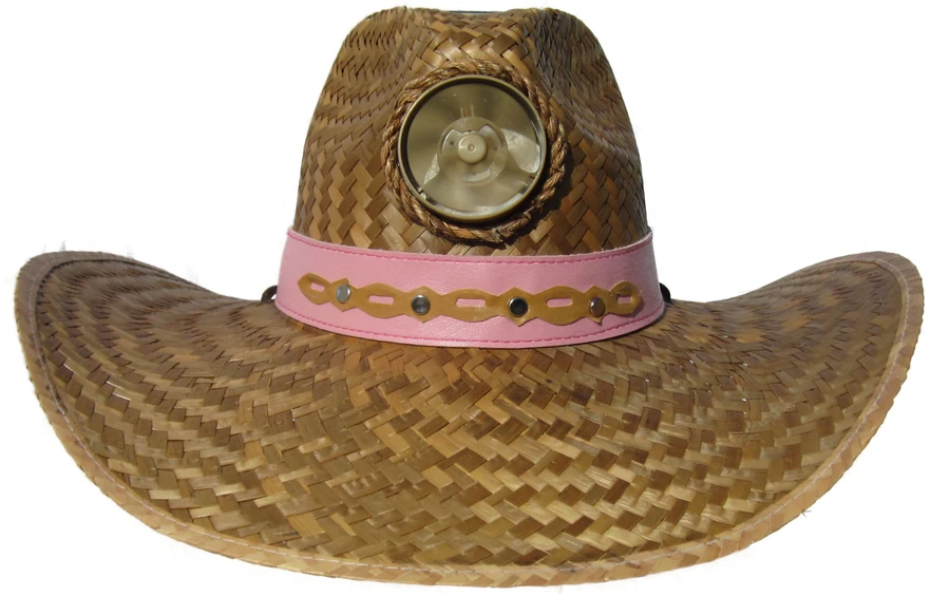 Lady's Cowboy Solar Straw Hat w/Headband
