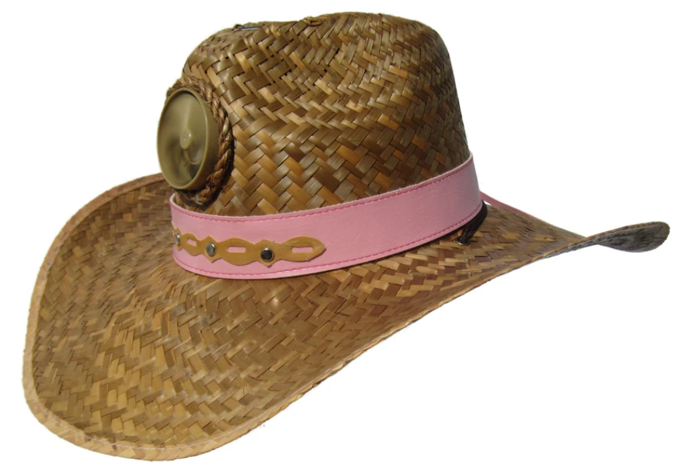 Lady's Cowboy Solar Straw Hat w/Headband