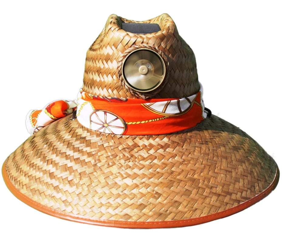Lady's Thurman Solar Straw Hat w/Scarf