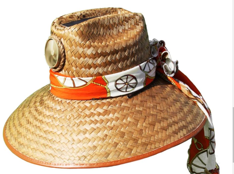 Lady's Thurman Solar Straw Hat w/Scarf