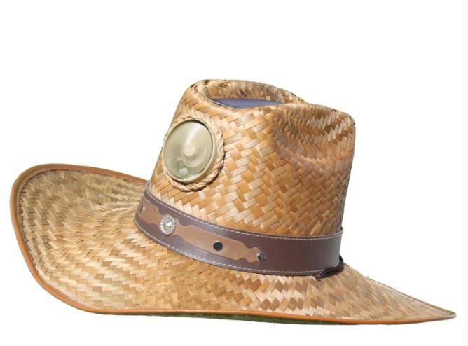 Men's Cowboy Solar Straw Hat w/Band