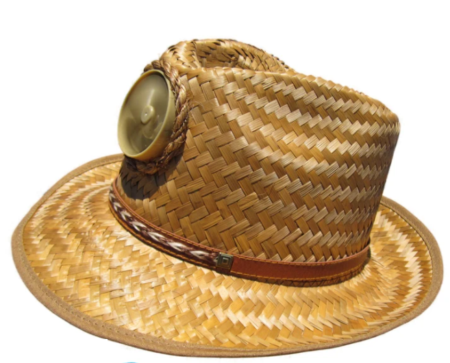 Men's Brown Fedora Solar Straw Hat With Band