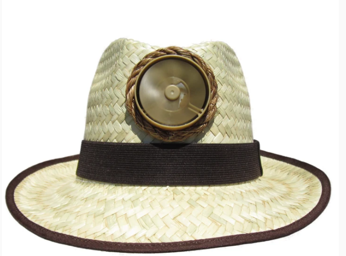 Men's Natural Fedora Solar Straw Hat With Band