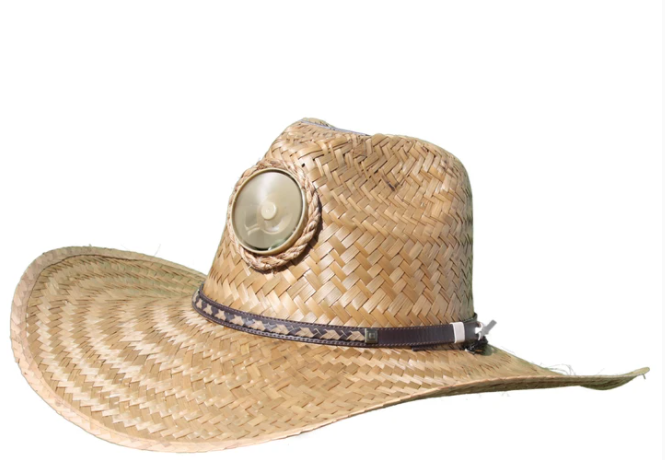 Men's Brown Solar Straw Hat With Thin Band