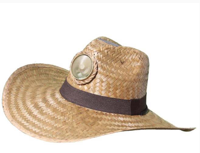 Men's Gentlemen Brown Solar Straw Hat w/Wide Band