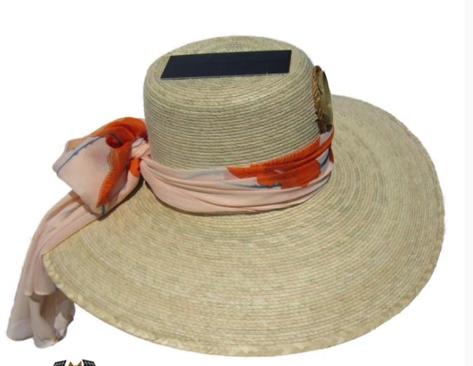 Lady's Floppy Straw Hat w/Starter Scarf