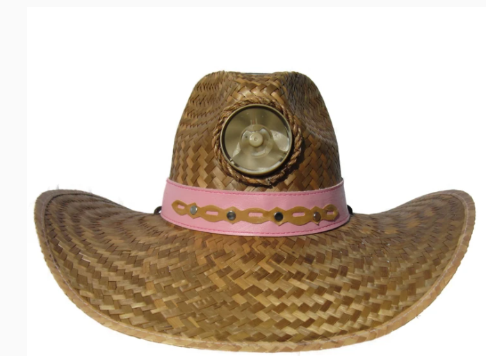 Lady's Gentlemen Brown Straw Hat w/Band